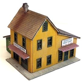 N Scale - Rail Scale Models - 2035 - Print Shop - Commercial Structures - DeSanto