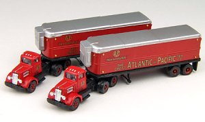 N Scale - Classic Metal Works - 51140 - Truck, White WC22 - Atlantic & Pacific