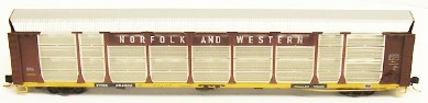 N Scale - Red Caboose - RM-19240 - Autorack, Enclosed, Bi-Level - Norfolk Southern - 12 different