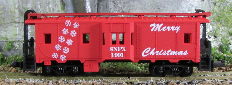 N Scale - Squeak N Products - 0021 - Caboose, Bay Window - Merry Christmas - 1991