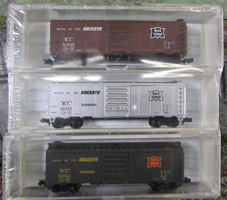 N Scale - Aztec - SLE2 - Boxcar, 40 Foot, PS-1 - Rock Island - 20021, 20060, 21010