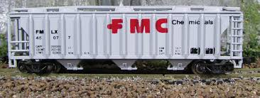 N Scale - Con-Cor - 0001-001766 (1) - Covered Hopper, 3-Bay, PS2 2893 - Food Machinery Corporation - 45052