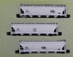 N Scale - N Hobby Distributing - 65 - Covered Hopper, 4-Bay, ACF Centerflow - Missouri Pacific - 724278, 717370, 724196