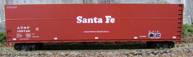 N Scale - Deluxe Innovations - 170113 - Gondola, Woodchip - Santa Fe - 3 numbers