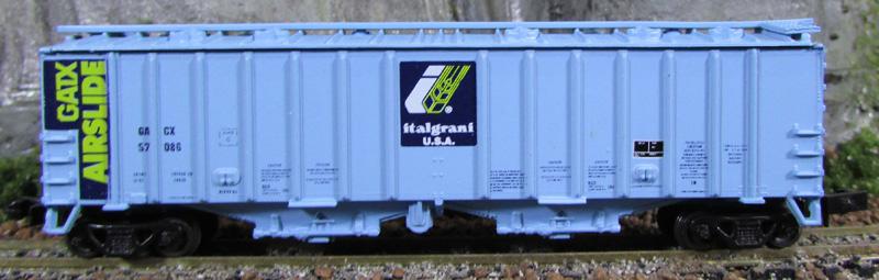 N Scale - Eastern Seaboard Models - 203700 - Covered Hopper, 2-Bay, GATX Airslide 4180 - Italgrani USA - 57086