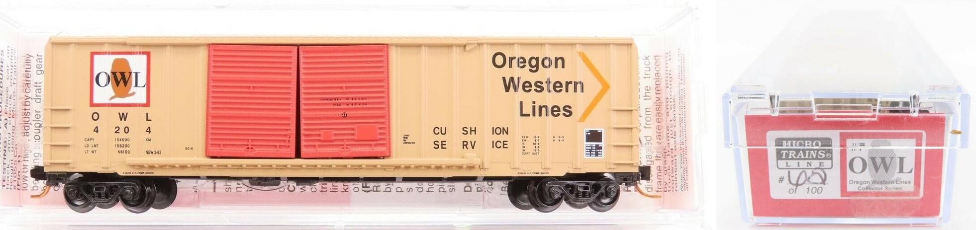 N Scale - Micro-Trains - NSC MTL 07-117 - Boxcar, 50 Foot, Steel - Oregon Western Lines - 4204