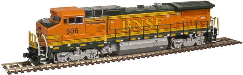 N Scale - Atlas - 40 003 014 - Locomotive, Diesel, GE Dash 8 - Burlington Northern Santa Fe - 537