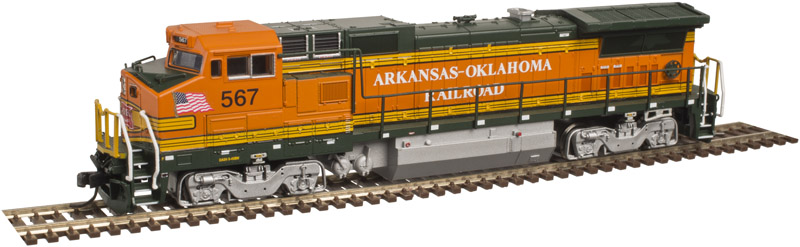 N Scale - Atlas - 40 003 015 - Locomotive, Diesel, GE Dash 8 - Arkansas-Oklahoma - 567