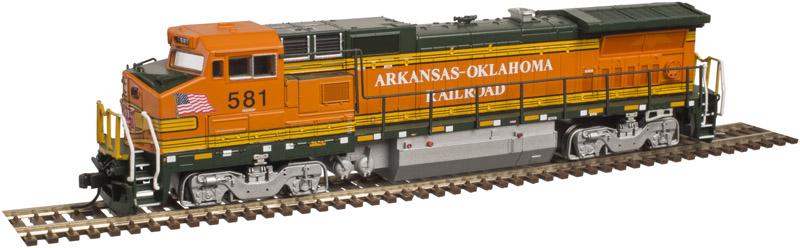 N Scale - Atlas - 40 003 016 - Locomotive, Diesel, GE Dash 8 - Arkansas-Oklahoma - 581