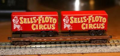 N Scale - Ak-Sar-Ben - 0004-005100 - Trailer, 40 Foot, Box - Sells-Floto Circus - Trailer 3-Pack