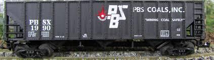 N Scale - Ak-Sar-Ben - 9018 - Open Hopper, 3-Bay, 100 Ton - PBS Coals - 1990