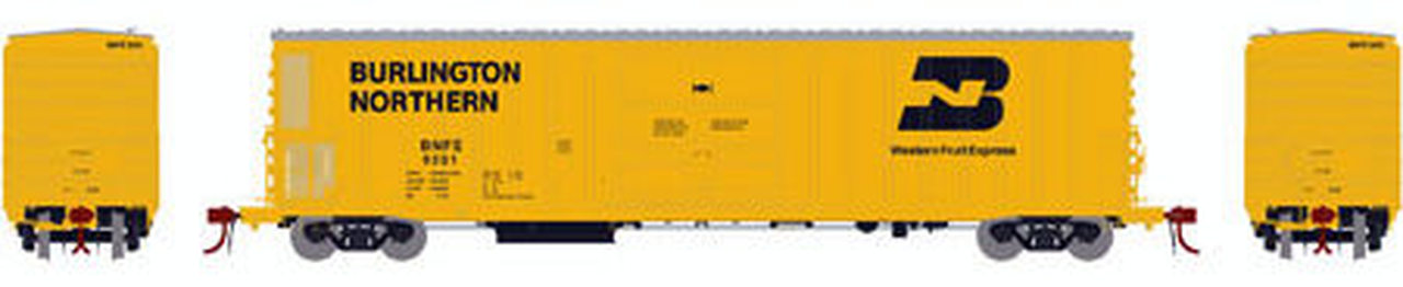 N Scale - Athearn - 24887 - Reefer, 57 Foot, Mechanical, FGE - Burlington Northern - 9265
