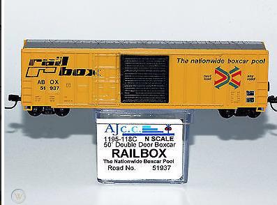 N Scale - AJ California Crossing - 1195-118A - Boxcar, 50 Foot, FMC, 5347 - RailBox - 37901