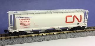 N Scale - InterMountain - 1007-6A - Covered Hopper, 4-Bay, Cylindrical - Canadian National - 3-Pack