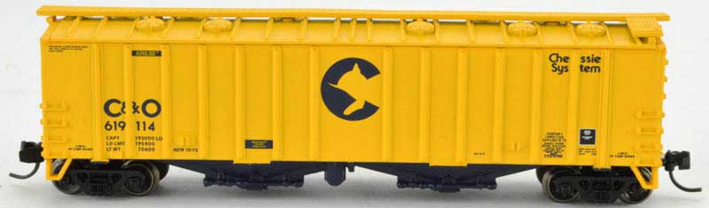 N Scale - Bowser - 37930 - Covered Hopper, 2-Bay, GATX Airslide 4180 - Chessie System - 619122