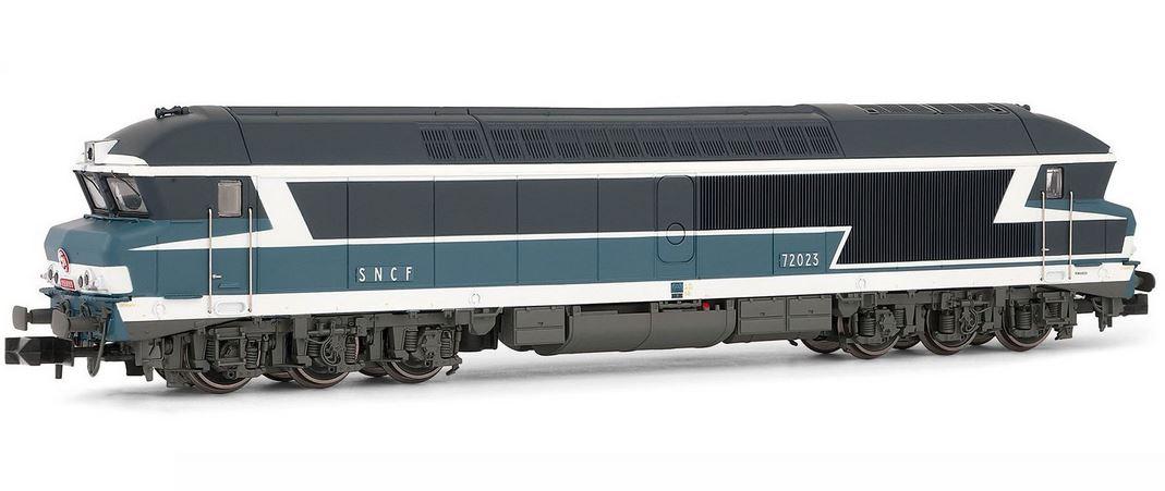 N Scale - Arnold Hornby - HN2244 - Locomotive, Diesel, SNCF CC 72000 - SNCF - 72023