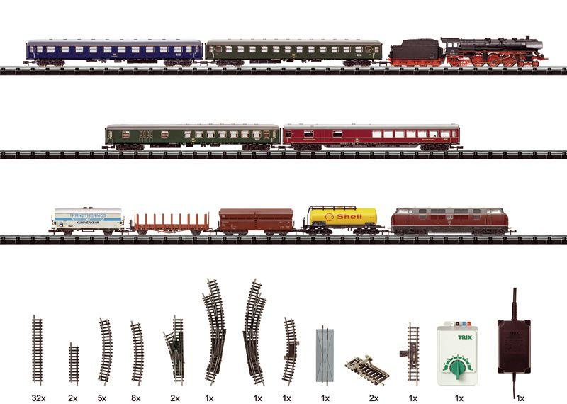 N Scale - Minitrix - 11121 - Train Set - Deutsche Bahn