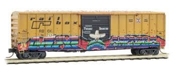N Scale - Micro-Trains - 025 44 564 - Boxcar, 50 Foot, FMC, 5077 - RailBox - 34724