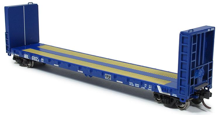 N Scale - Prairie Shadows - 4067 - Flatcar, 70-ton, Bulkhead - Montana Rail Link - 61004