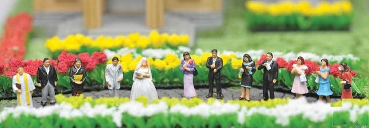 N Scale - Tomytec - 117 - Wedding Party - People