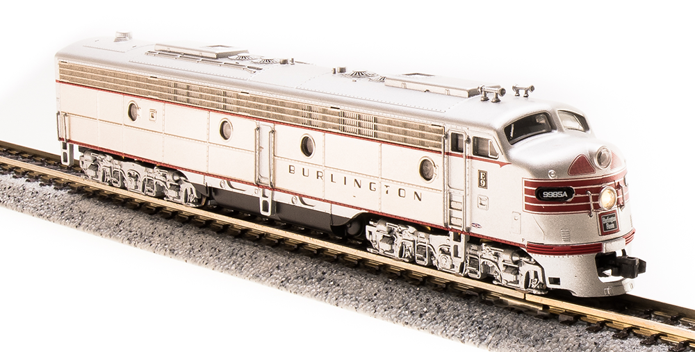 N Scale - Broadway Limited - 3618 - Locomotive, Diesel, EMD E9 - Burlington Route - 9985-B