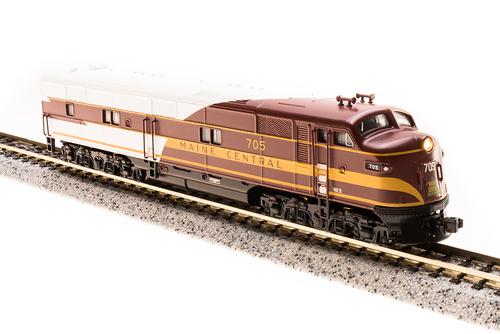 N Scale - Broadway Limited - 3600 - Locomotive, Diesel, EMD E7 - Maine Central - 705