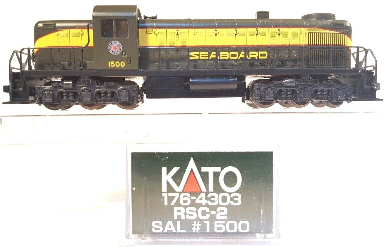 N Scale - Kato USA - 176-4303 - Locomotive, Diesel, Alco RSC-2 - Seaboard Air Line - 1500