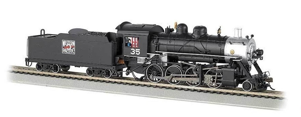 N Scale - Bachmann - 51351 - Locomotive, Steam, 2-8-0 Consolidation - Western Pacific - 35