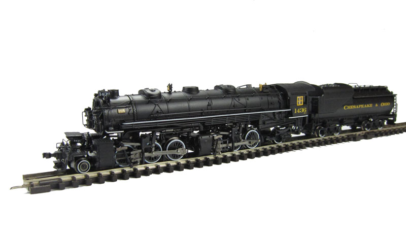 N Scale - Bachmann - 82674 - Engine, Steam, 2-6-6-2 Mallet - Chesapeake & Ohio - 1436