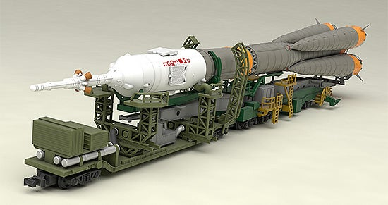 N Scale - Good Smile Company - 933674 - Rocket Launch Pad Transport Car, Soyuz