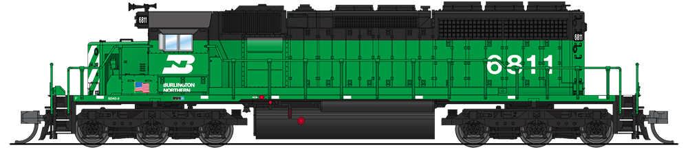 N Scale - Broadway Limited - 3704 - Locomotive, Diesel, EMD SD40-2 - Burlington Northern - 6923