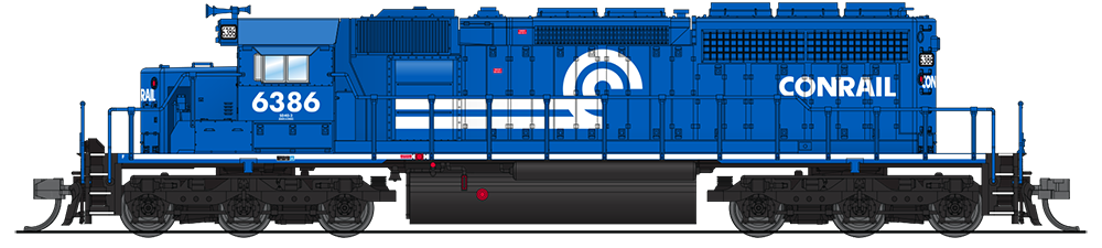N Scale - Broadway Limited - 3709 - Locomotive, Diesel, EMD SD40-2 - Conrail - 6386