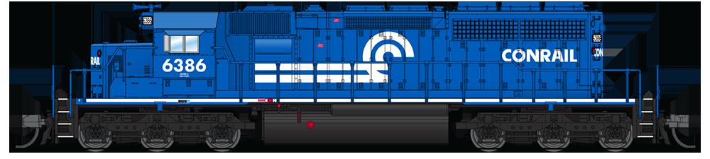 N Scale - Broadway Limited - 3710 - Locomotive, Diesel, EMD SD40-2 - Conrail - 6391