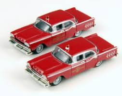 N Scale - Classic Metal Works - 50311 - Automobile, Ford, Fairlane - Fire and Rescue - 1959 Ford Fairlane 4 door