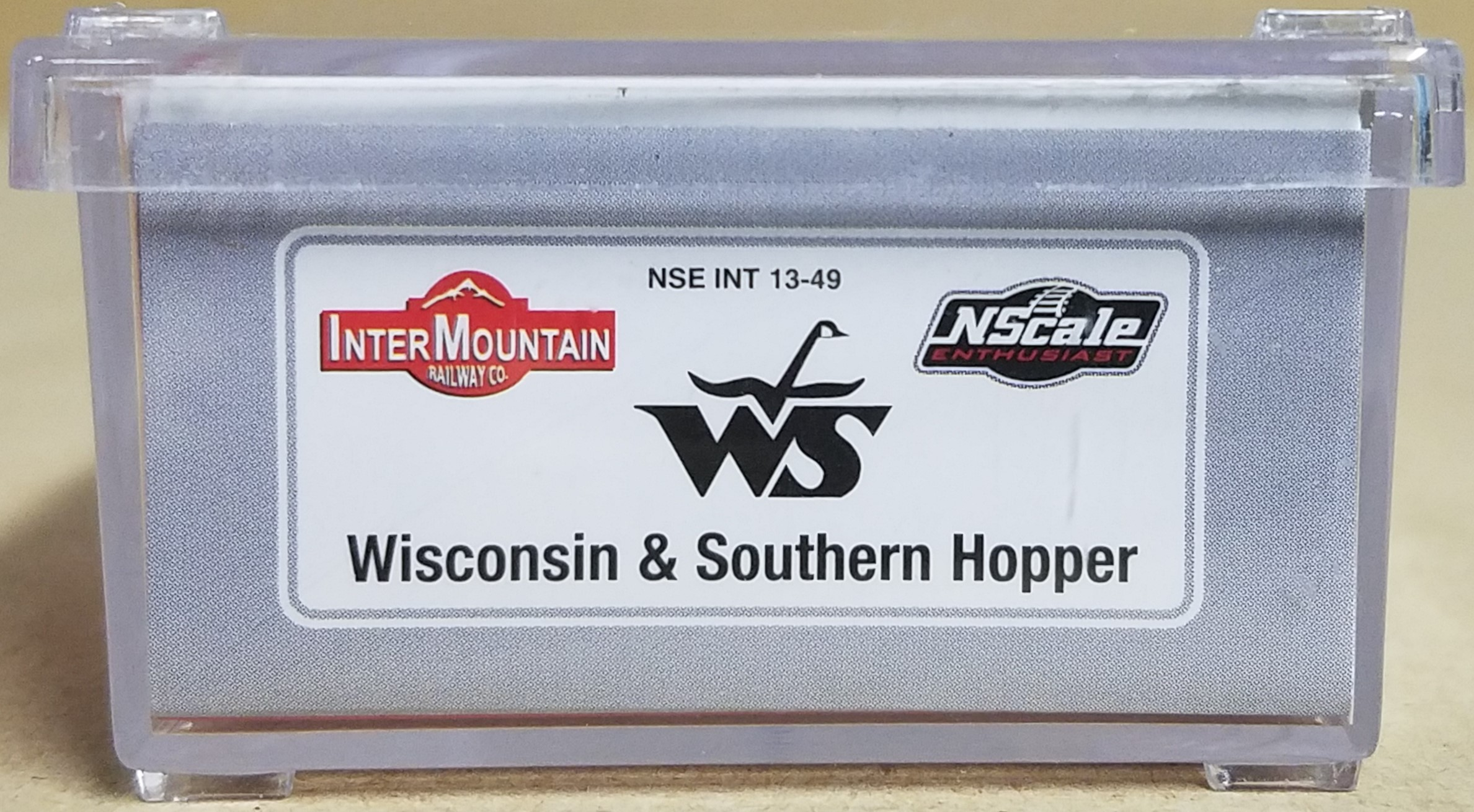 N Scale - InterMountain - NSE INT 13-49 - Covered Hopper, 3-Bay, ACF 4650 - Wisconsin & Southern - 13629