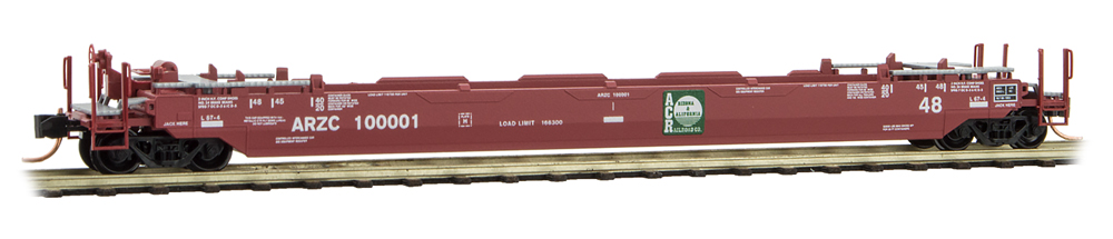 N Scale - Micro-Trains - 135 00 121 - Container Car, Single Well, Gunderson Husky Stack 48 - Arizona & California - 100001