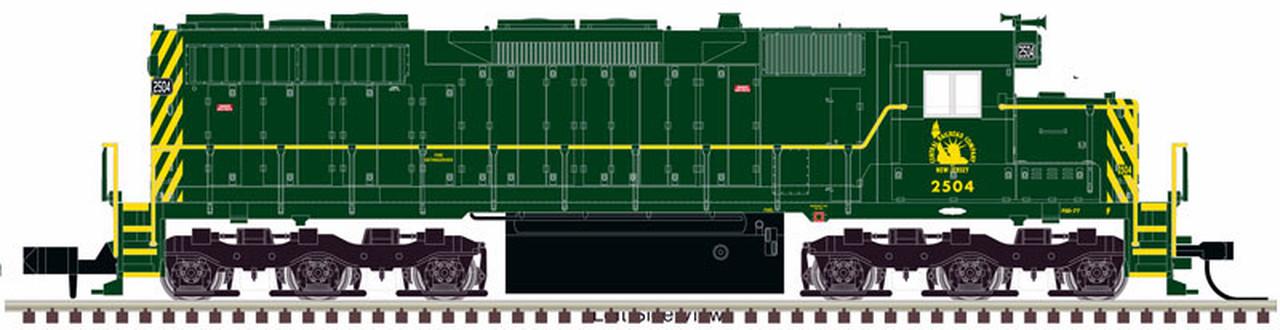 N Scale - Atlas -  40 003 705 - Locomotive, Diesel, EMD SD35 - Jersey Central - 2502