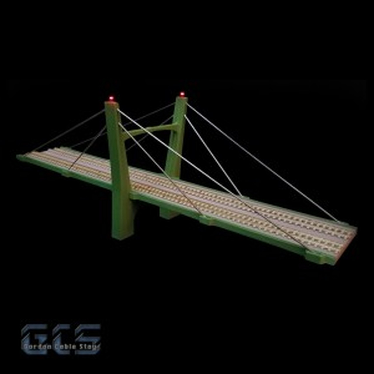 N Scale - Gordon Cable Stay - CS15D-NZ - Bridge - Bridges and Piers