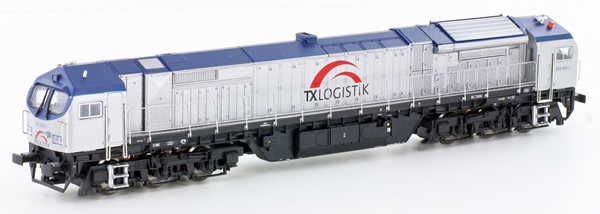 N Scale - Lemke - 58858 - Engine, Diesel, Bombardier DE-AC33C - TX Logistik - 250 003-1