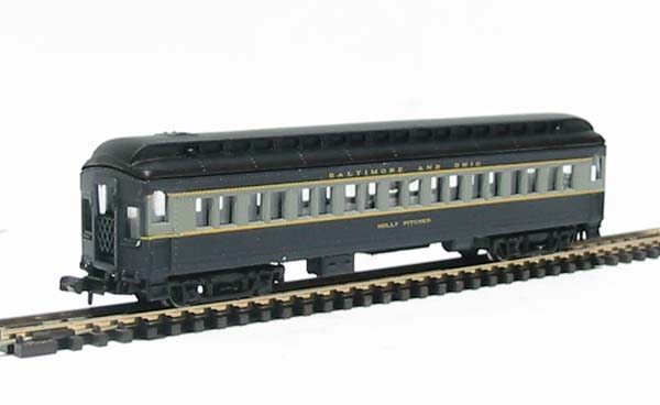 N Scale - Bachmann - 13074 - Passenger Car, Heavyweight - Baltimore & Ohio - Molly Pitcher