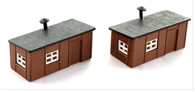 N Scale - Kestrel Designs - GMKD18 - Railroad Structures - Station Yard Huts Kit