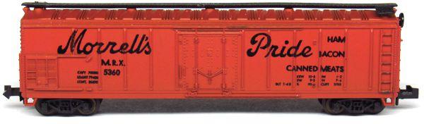 N Scale - Aurora Postage Stamp - 4867 - Reefer, Ice, Steel - Morrell Refrigerator Line - 5360