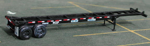 N Scale - Deluxe Innovations - 1021 - Container Chassis, 40 Foot - TRAC - 134276, 149361