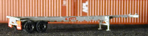 N Scale - Deluxe Innovations - 1032 - Container Chassis, 40 Foot - K Line - 406470, 406518