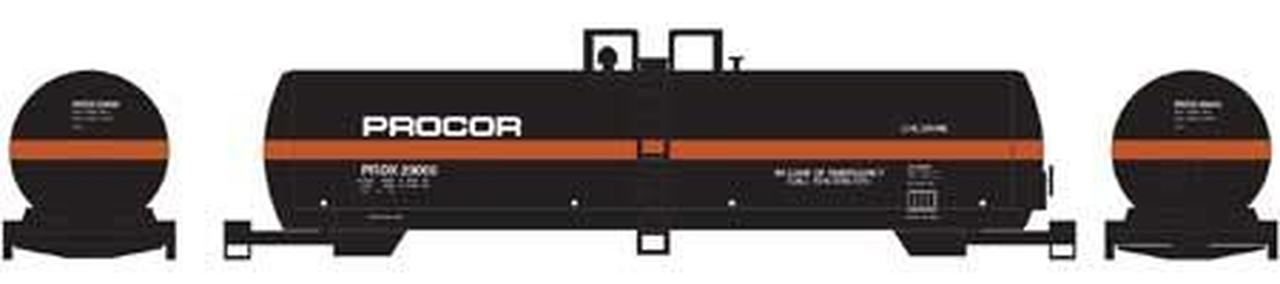 N Scale - Athearn - 10232 - Tank Car, 20.9K, General Service - Procor - 29005