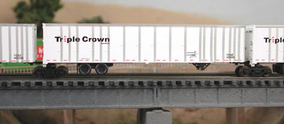 N Scale - Deluxe Innovations - 180120 - Intermodal, Roadrailer - Triple Crown - 460011 460032 460023 460134 460035 460006 460057 460069 460080 460112