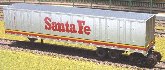 N Scale - Deluxe Innovations - 180601 - Intermodal, Roadrailer - Santa Fe