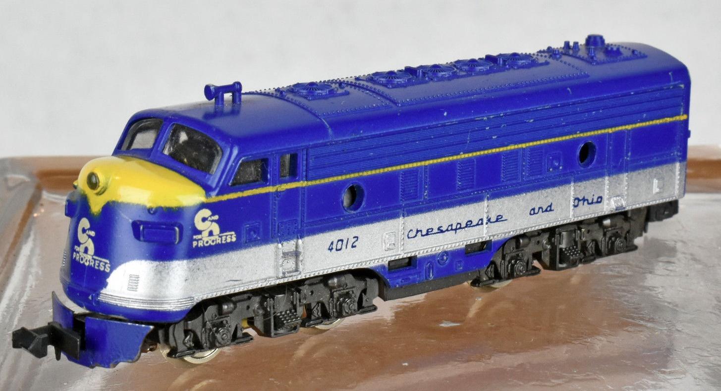 N Scale - Lima - 233 - Locomotive, Diesel, EMD F7 - Chesapeake & Ohio - 4012