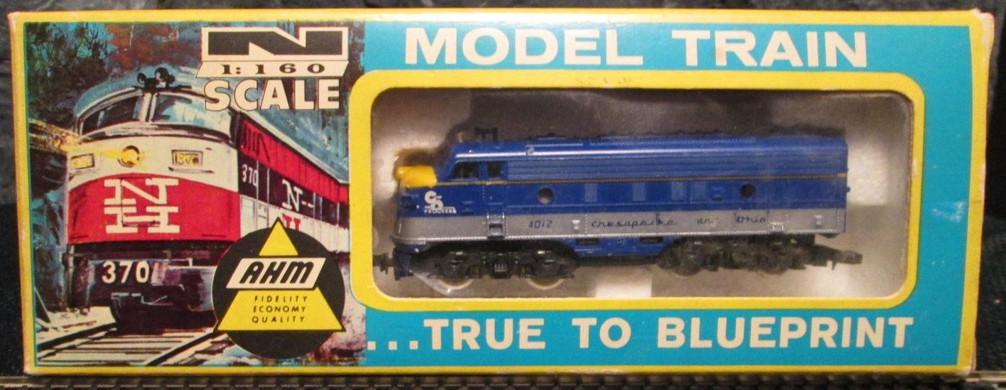 N Scale - Lima - 243 - Locomotive, Diesel, EMD F7 - Chesapeake & Ohio - 4012