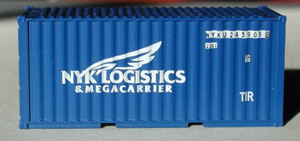 N Scale - Deluxe Innovations - 3171 - Container, 20 Foot, Smooth, Refrigerated - NYK Line
